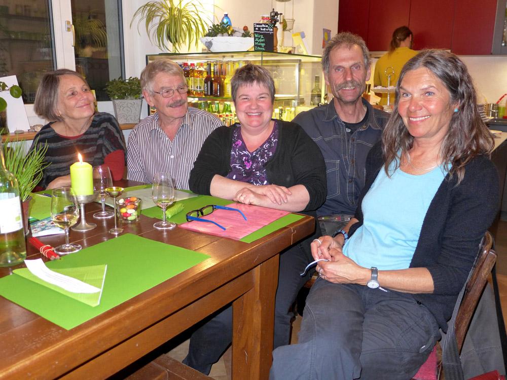 Der VAH-Vorstand mit (von links) Christine Romei (Aktuarin) Barbara Schurtenberger und Werni Meyer (Co-Präsidium), Fladi Frey (Vizepräsident) und Silvia Frey (Kassierin).