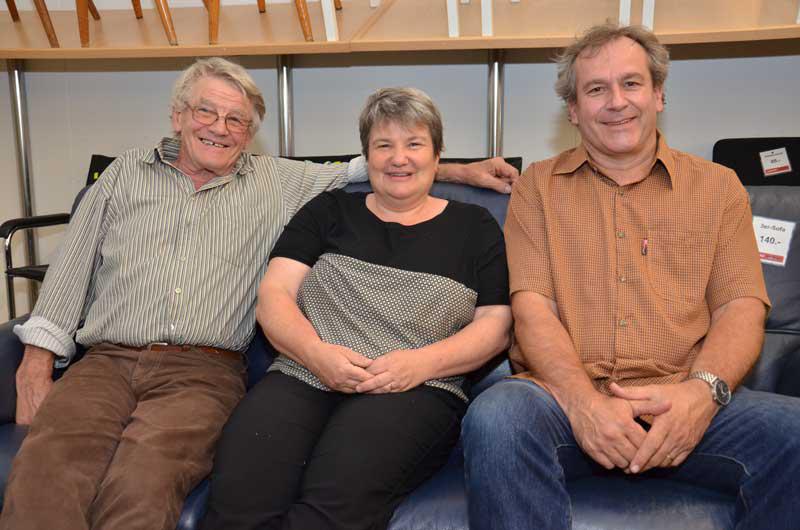 Barbara Schurtenberger wurde aus dem Co-Präsidium verabschiedet; Werni Meyer (links) gehört diesem weiterhin an, René Moor neu.